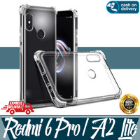 AntiCrack Tpu Silicon Casing Hp Xiaomi Redmi 6 Pro, A2 Lite Kesing Cas