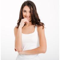 promo berkualitas tank top singlet bodyfit wanita hitam putih