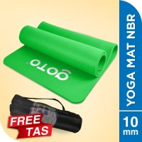 Matras Alas Yoga NBR Senam Mat 10 mm Anti Slip FREE BAG Tebal Hijau