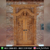 pintu rumah ukir mewah kayu jati jepara,kusen pintu gebyok jawa