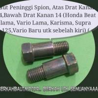 Baut Peninggi Spion Honda Beat lama, Vario Lama, Karisma, Supra 125.
