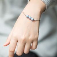 Perhiasan Gelang Mutiara Swarovski - Petite Mherl Light Blue Bracelet