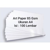 Art Paper 85 Gsm A4 100 Lembar