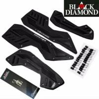 karpet bordes pijakan all new nmax 2020 BLACK DIAMOND - Hitam