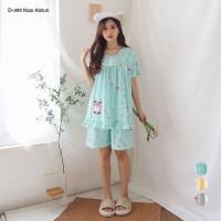 GREET Piyama Wanita/Kaos Katun/D-399 (H - Free size)