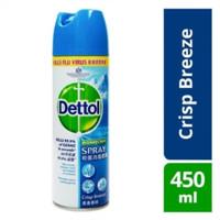 DETTOL DISINFECTANT SPRAY 450 ML SEMPROTAN DISINFEKTAN DETTOL 450ML