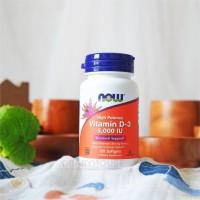 Now Foods Vitamin D3 (5000 IU) 120 Softgels