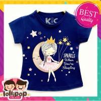 Kaos / Baju Anak Perempuan Lollipop Motif Dream Girl Navy 1-10 Tahun