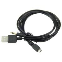 Kabel Spliter Splitter Micro USB ke AUX 3.5mm + USB Male