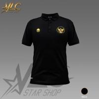 Polo Shirt Timnas Garuda Indonesia - Kaos Kerah Timnas - MILLS - Hitam