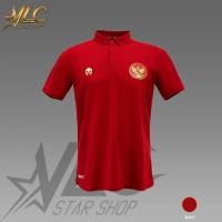 Polo Shirt Timnas Garuda Indonesia - Kaos Kerah Timnas - MILLS - Merah