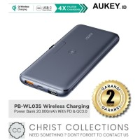 AUKEY POWERBANK WIRELESS 20000MAH FAST CHARGING 18W PD3.0 PB-WL03S