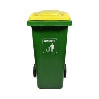 Krisbow 240 Ltr Tempat Sampah Outdoor - Hijau/Kuning