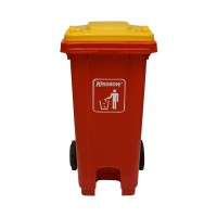 Krisbow 240 Ltr Tempat Sampah Plastik - Merah