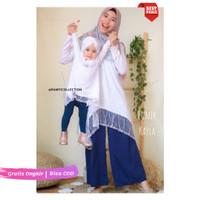 [CT] Baju Tunik Muslim Couple Mom Baby - Tunik Kayla - Baju Pesta Anak
