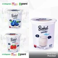 Yogurt Biokul Stirred Plain Strawberry Blueberry 1 Liter Diamond 1L