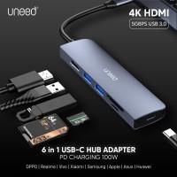UNEED USB Hub Type C to HDMI Thunderbolt 3 USB 3.0 PD Charging 100W