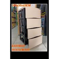 lemari plastik / lemari serbaguna napolly rotan susun 4