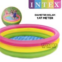 Kolam Renang Karet Anak Intex Pelangi Swimming Pool Mandi Bola Besar