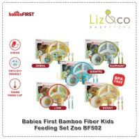 Babies First Bamboo Fiber Kids Feeding Set Zoo BF502