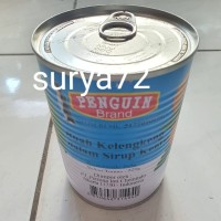 1 kaleng buah kelengkeng dalam sirup kental penguin brand 220gr
