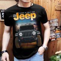 Baju Kaos Distro Cowo Pria Mobil Jeep Abu2 Baru GOOD QUALITY