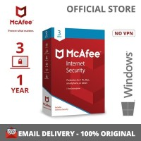 PROMO !!!! McAfee® Internet Security 3 DEVICE 1 YEAR FOR WINDOWS ONLY