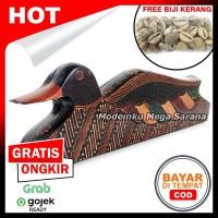Mainan Tradisional Congklak Dakon Kayu Batik Bebek + Biji Kerang