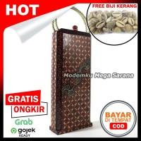 Congklak Dakon Lipat Kayu Batik - Motif A