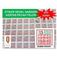 Cetak Kilat Stiker Khusus Garansi dan QC Bahan Kertas Pecah Telor
