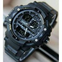 Jam Tangan Pria Dual-Time G SHOCK GWN 8600/2373 Tali Rubber Full Hitam