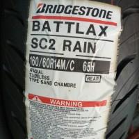 BAN LUAR BRIDGESTONE BATTLAX SC 2 RAIN UKURAN 160 -60 RING 14 BATTLAX