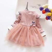 DRESS IMPORT TOKYO FRIEND EBV Baju Dress Anak Perempuan Import