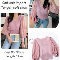 Dysan Blouse Knit Import Pink