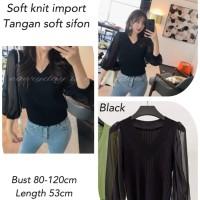 Dysan Blouse Knit Import Black