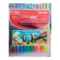 Crayon Putar Titi Panjang 12 Warna