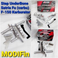 Foot Step UB UnderBone Satria Fu Original As Speed Racing Dural Silver