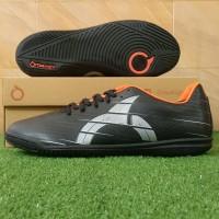 Sepatu Futsal Ortuseight Raptor IN - Black/Silver/Ortrange - 38