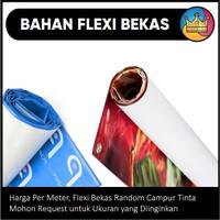 BAHAN Flexi Bekas Spanduk Terpal Baliho Banner Random Campur Tinta