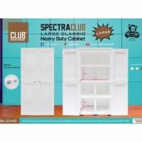 Lemari Plastik Club Spectra Large Premium Quality - Putih / Slchd