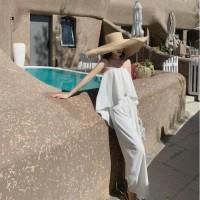 premium white bandeau ruffle jumpsuit wanita import beachwear set