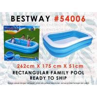 Kolam Renang Anak Besar Ukuran 2.6mtr BESTWAY 54006 / BLUE Rectangular