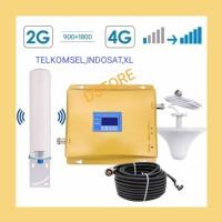 REPEATER/BOSTER/ANTENA/PENAMBAH/PENGUAT SINYAL HP GSM 2G+DCS 4G LTE