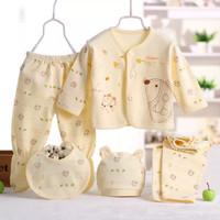 Bayi Baru Lahir Gadis Unisex Pakaian Bayi baju Monyet Set V20