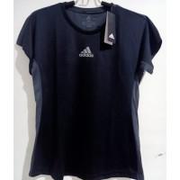 Baju Kaos Olahraga Cewek Original Adidas Badminton Climacool Hitam