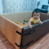 KiMO Playmat ukuran 100x150. Fence baby Bumper. Box bayi anak kembar
