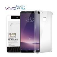 Premium Soft Case Vivo V7 Plus Clear - Anti Crack Glass Pro
