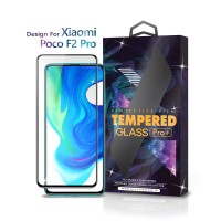 Tempered Glass Xiaomi Poco F2 Pro Full Cover Black - Premium Glass Pro