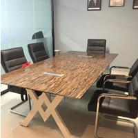 Meeting Table/meja meeting meja kantor meja panjang kaki aluminium