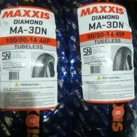 ban Maxxis Diamond sepasang 100/80-14 & 90/80 ring 14 MA-3DN for matik